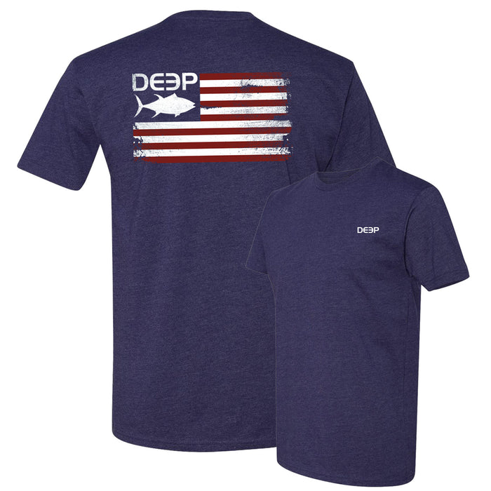 Deep - Tuna Flag Tee - Navy - OffshoreApparel.com
