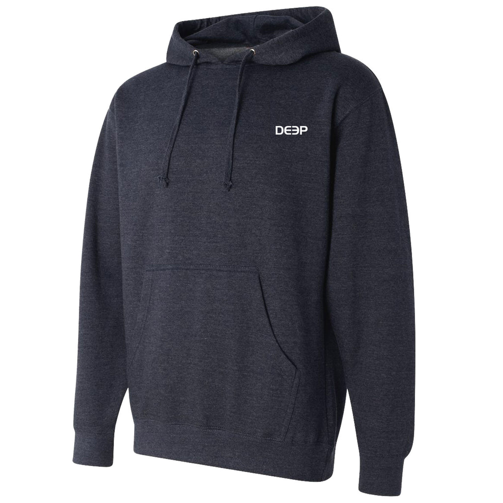Deep Ocean - Tuna Flag Hoodie - Charcoal - OffshoreApparel.com