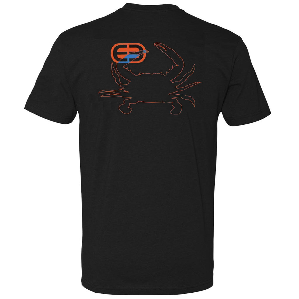 Deep - Outline Crab Tee - Black - OffshoreApparel.com