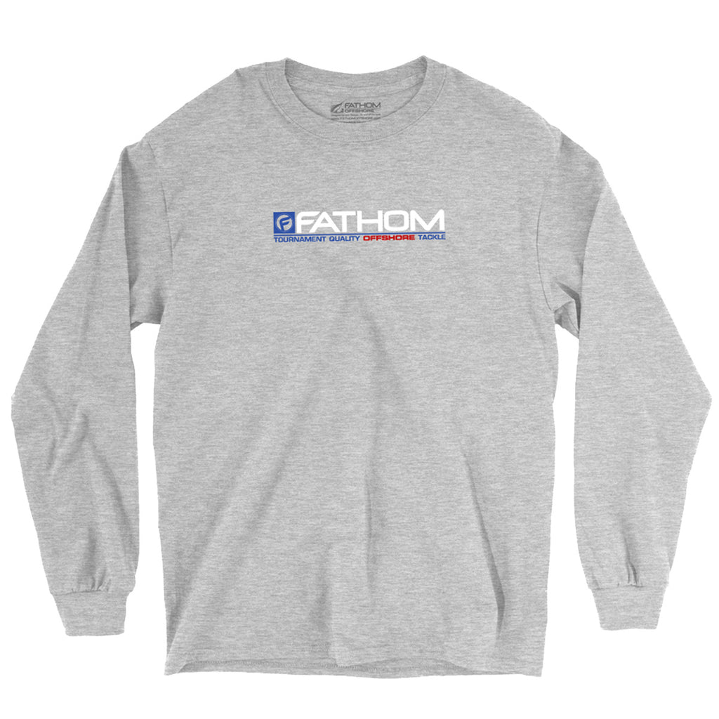 Fathom Offshore - Carolina Crew LS Tee - Grey - OffshoreApparel.com