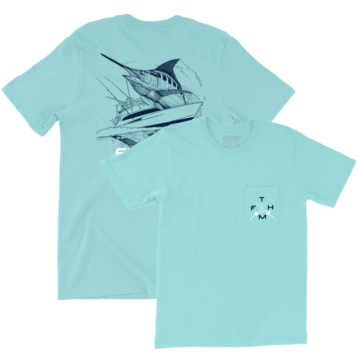 Fathom Offshore - Carolina Traditions 2.0 Tee - Lagoon - OffshoreApparel.com