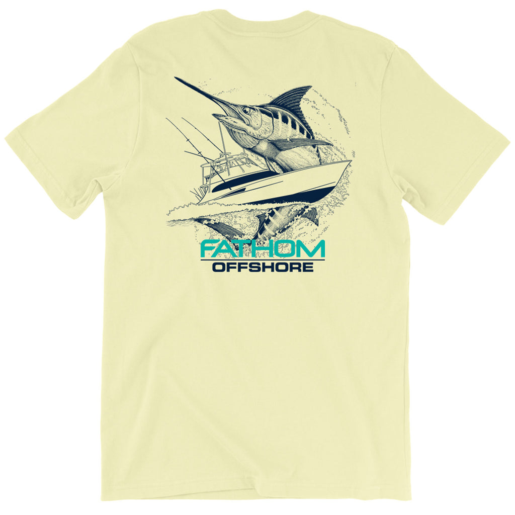 Fathom Offshore - Carolina Traditions 2.0 Tee - Banana - OffshoreApparel.com