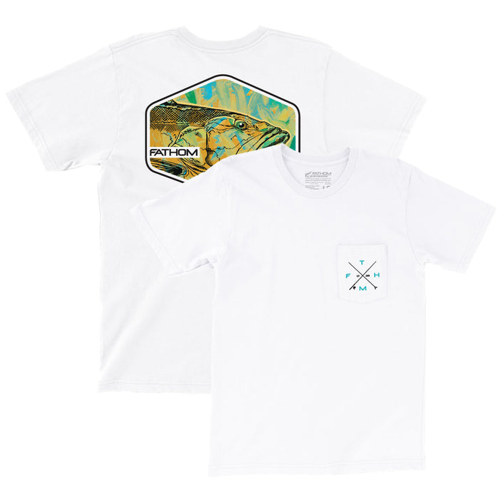 Fathom Offshore - Deep Drop Tee - White - OffshoreApparel.com