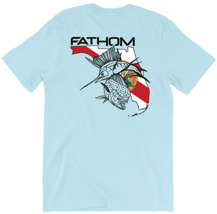 Fathom Offshore - FL State Pocket Tee - Chambray