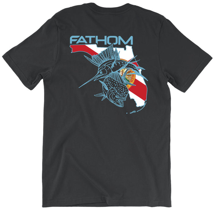 Fathom Offshore - FL State Pocket Tee - Pepper - OffshoreApparel.com