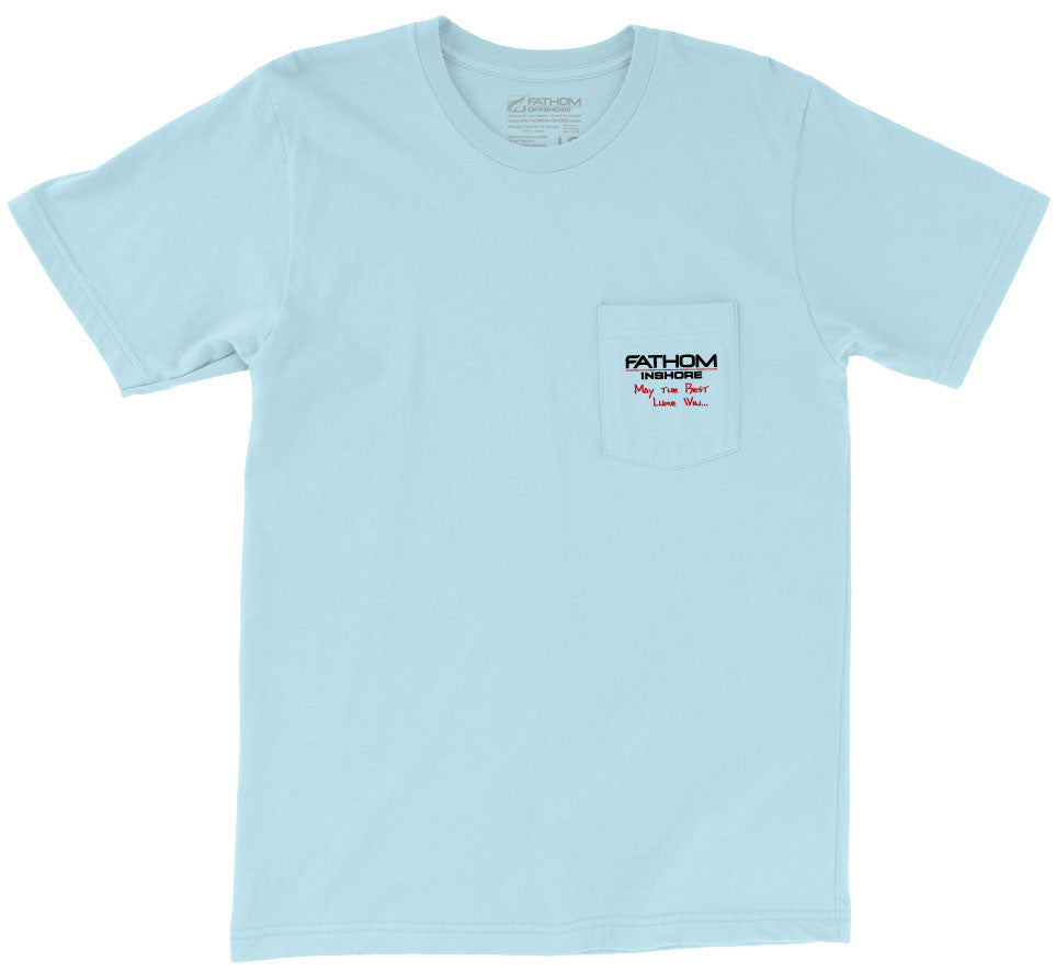 Fathom Offshore - FL State Pocket Tee - Chambray - OffshoreApparel.com