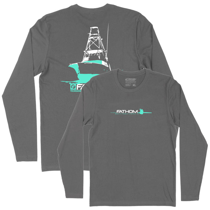 Fathom Offshore - Flare LS Tee - Heavy Metal - OffshoreApparel.com
