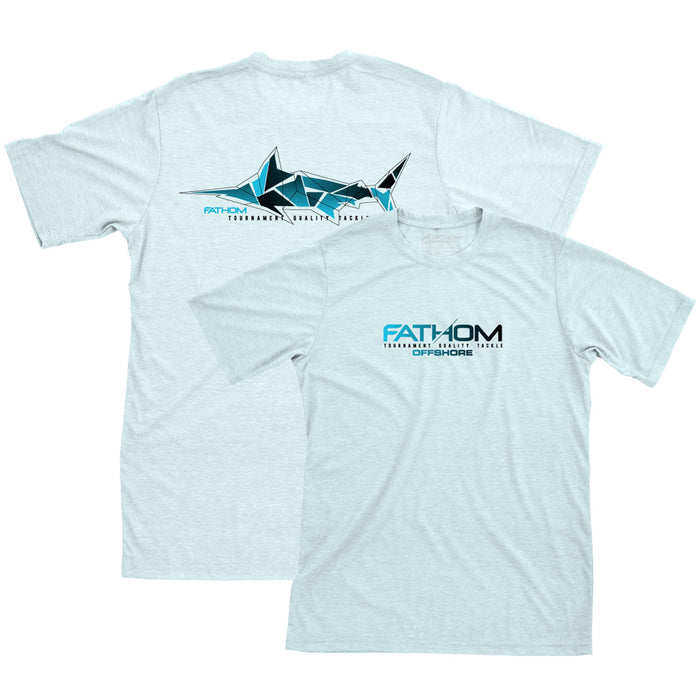 Fathom Offshore - Fratical Marlin Tee - Ice Blue - OffshoreApparel.com