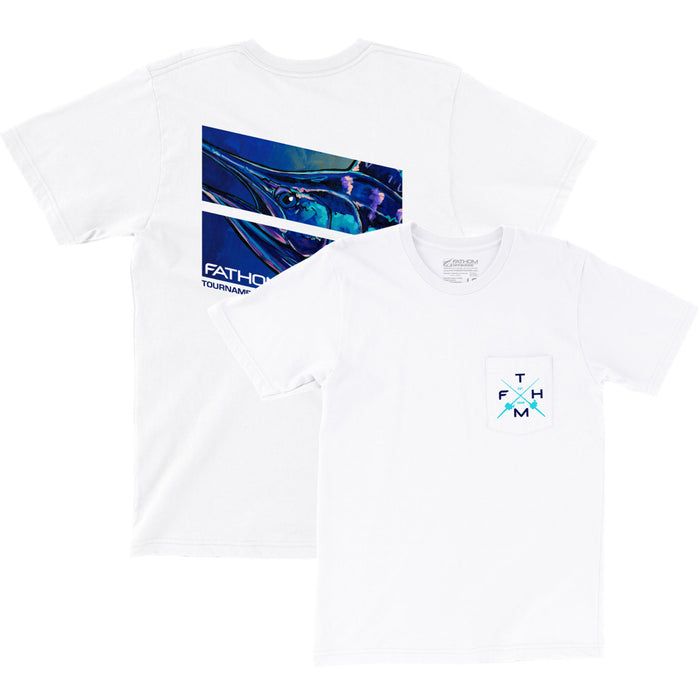 Fathom Offshore - Lit Up Tee - White - OffshoreApparel.com