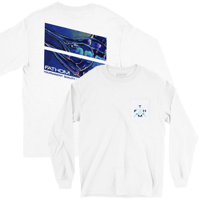 Fathom Offshore - Lit Up LS Tee - White - OffshoreApparel.com