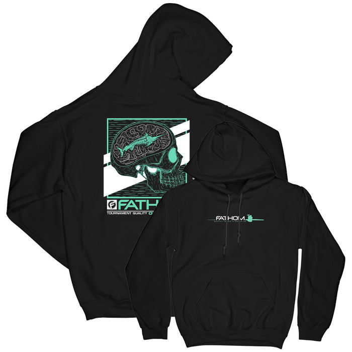 Fathom Offshore - 1 Track Mind Fleece Hoody - Black - OffshoreApparel.com