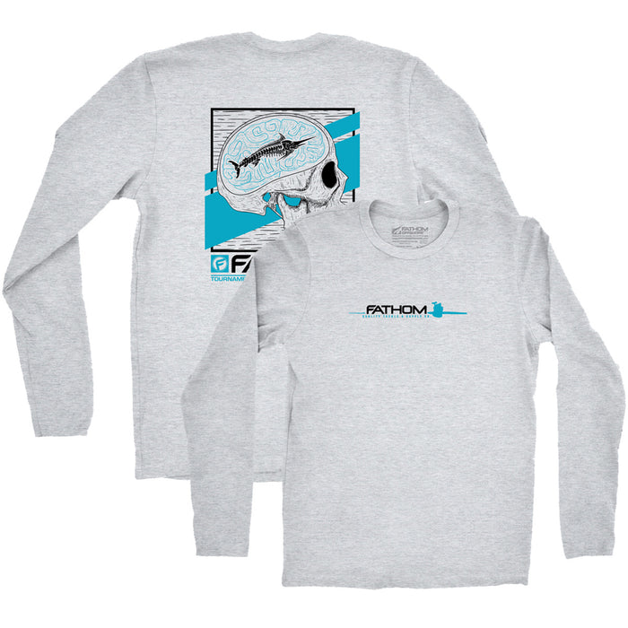 Fathom Offshore - 1 Track Mind LS Tee - Grey - OffshoreApparel.com