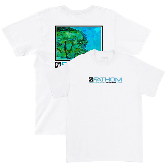 Fathom Offshore - Tightline Fishing Tee- White - OffshoreApparel.com