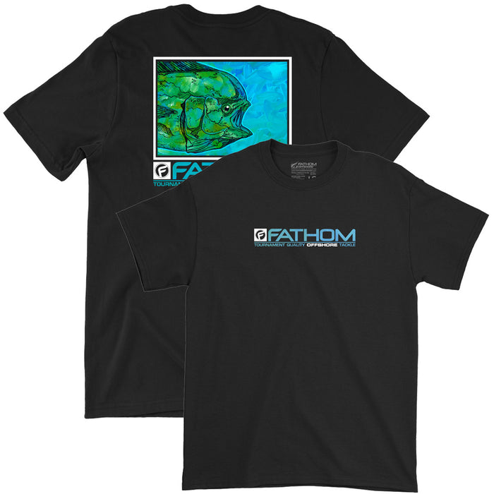 Fathom Offshore - Tightline Fishing Tee - Black - OffshoreApparel.com