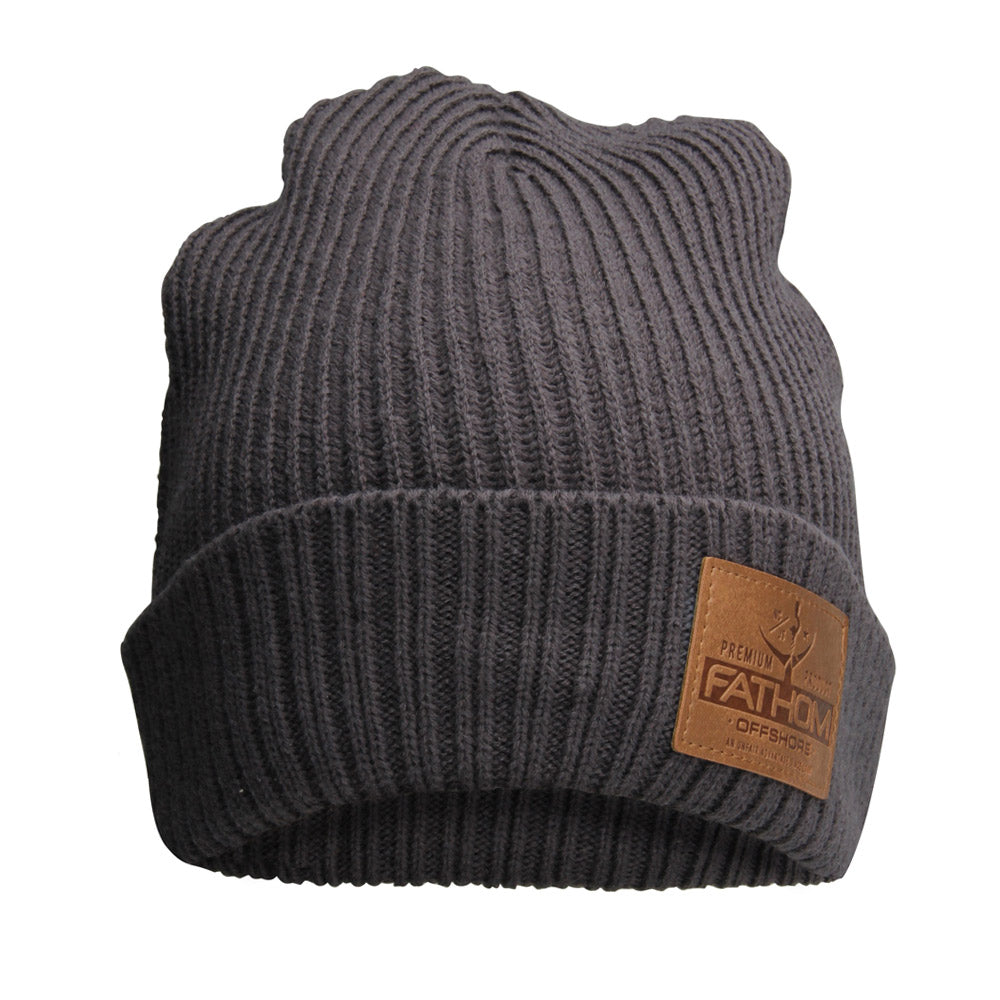 Fathom Offshore -  Trench Beanie - Charcoal - OffshoreApparel.com
