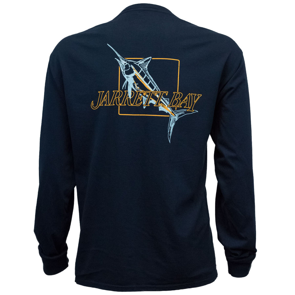 Jarrett Bay - Fall Marlin LS - Navy - OffshoreApparel.com