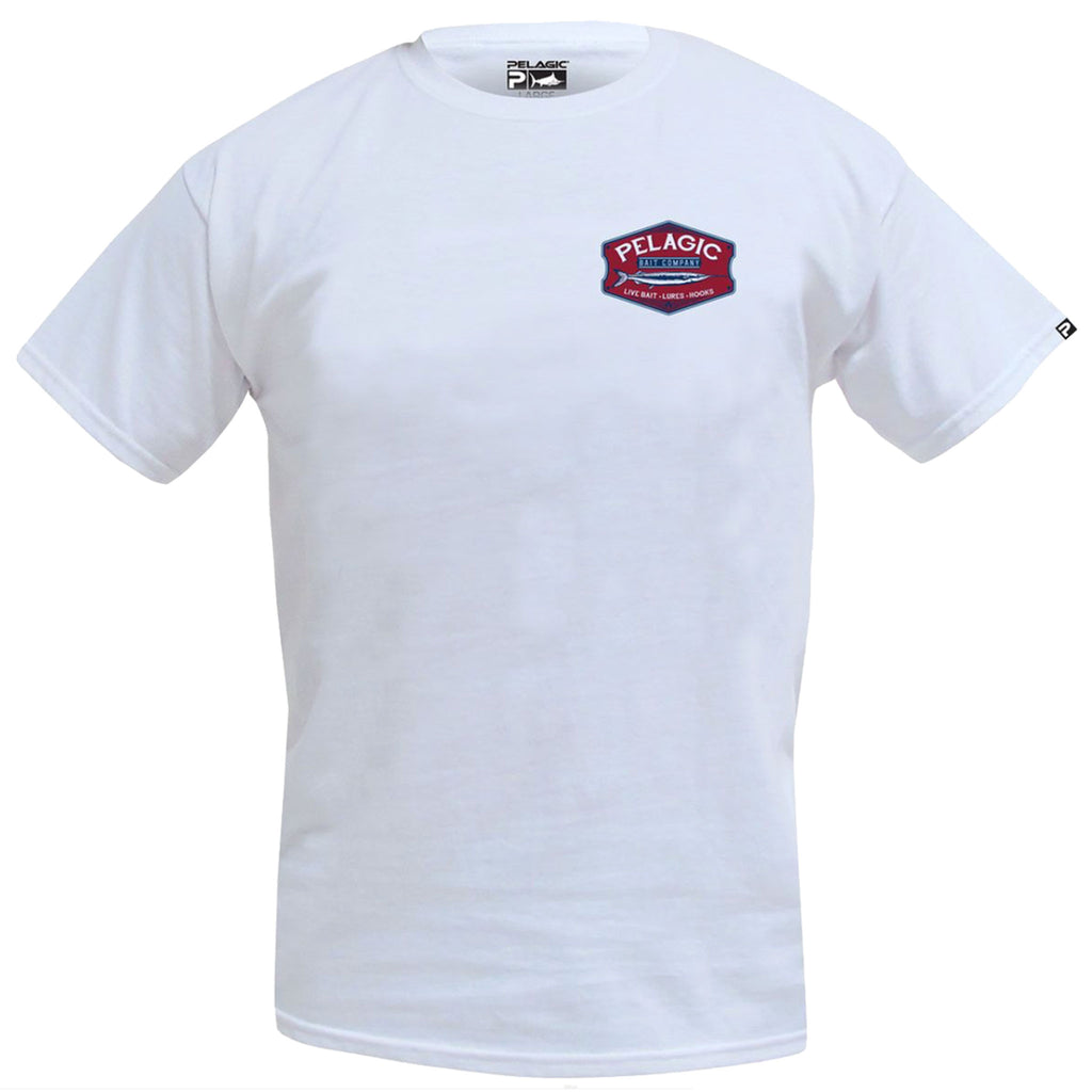 Pelagic - Bait Co Tee - White - OffshoreApparel.com