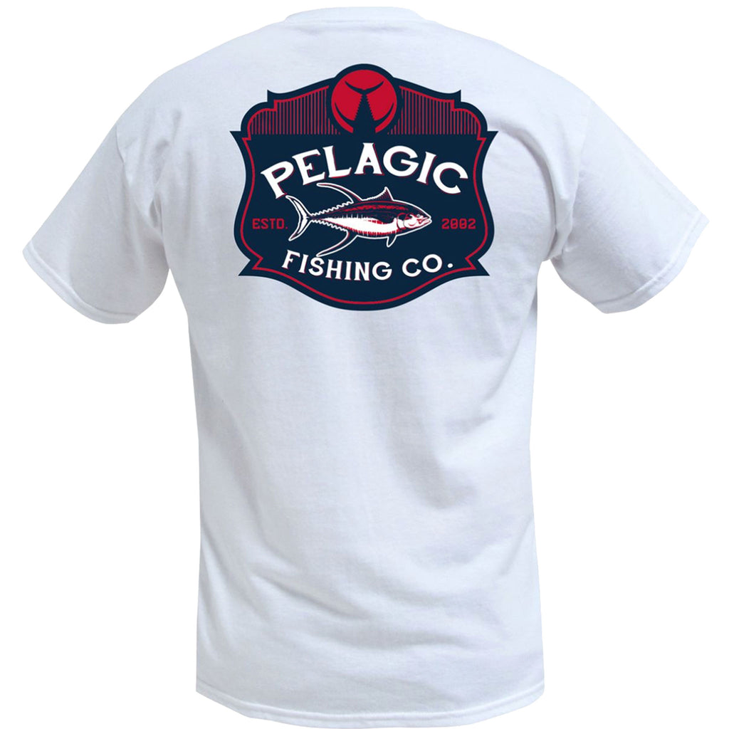 Pelagic - Established Logo Tee - White - OffshoreApparel.com