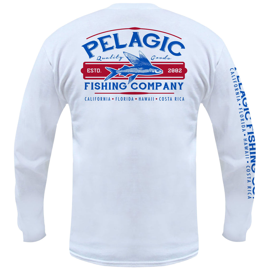 Pelagic - Fish Co LS Tee - White - OffshoreApparel.com