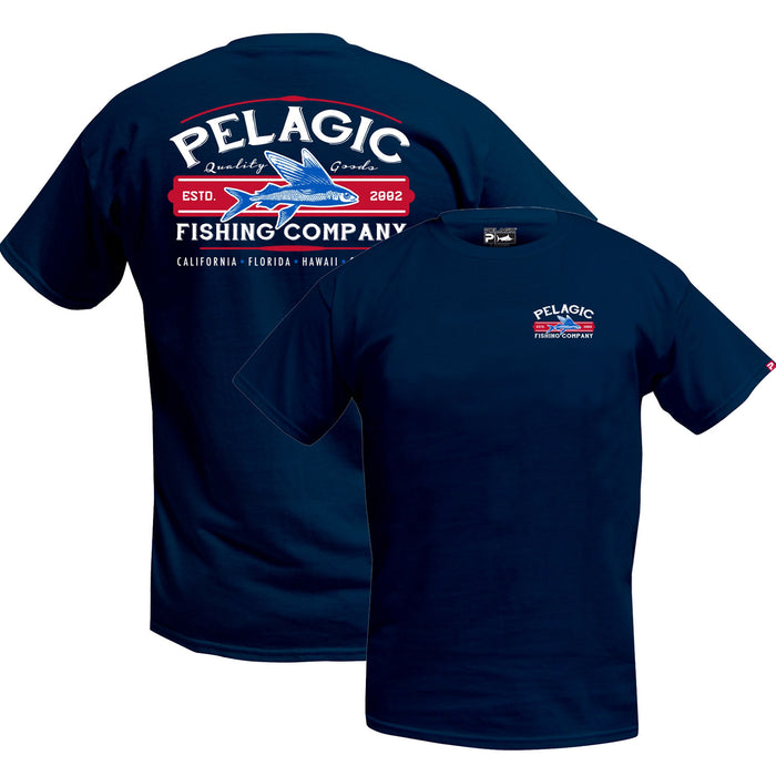 Pelagic - Fish Co Tee - Navy - OffshoreApparel.com