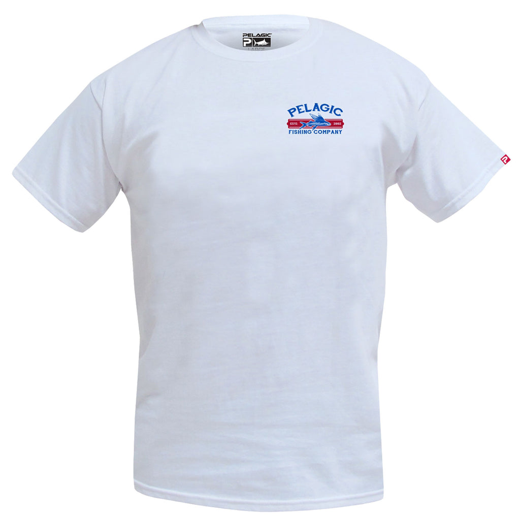 Pelagic - Fish Co Tee - White - OffshoreApparel.com