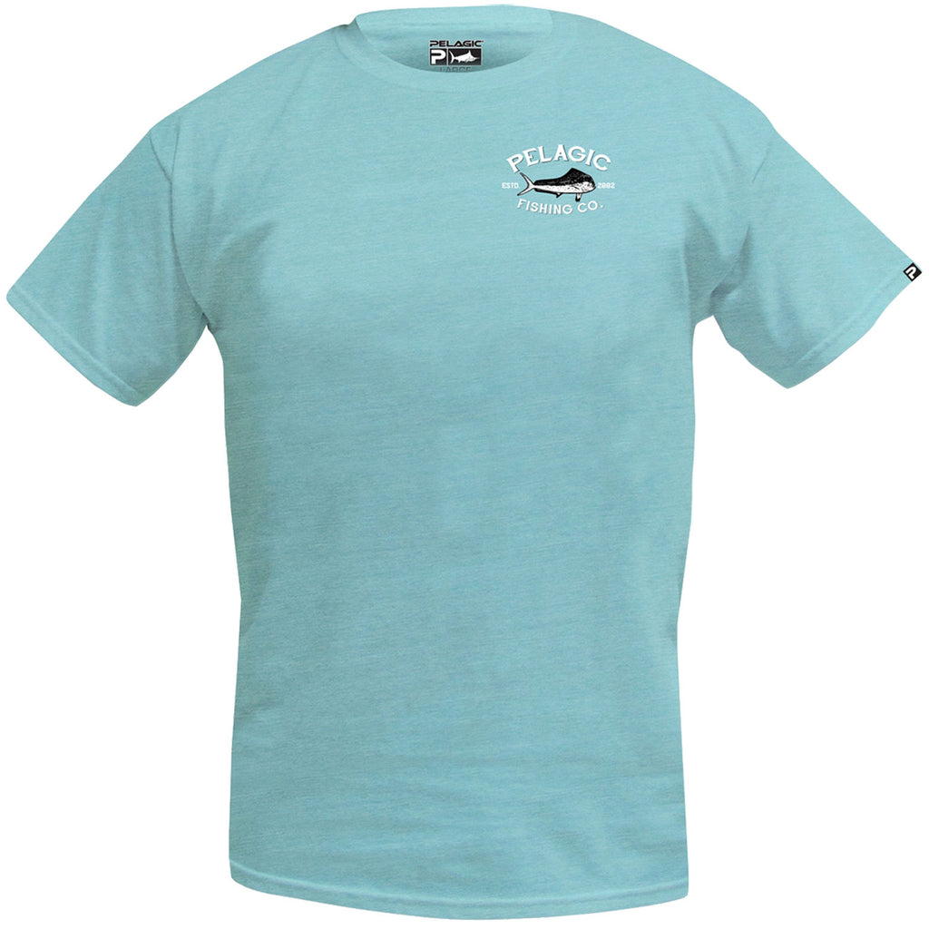 Pelagic - Fish Market Tee -Heather Lt Green - OffshoreApparel.com