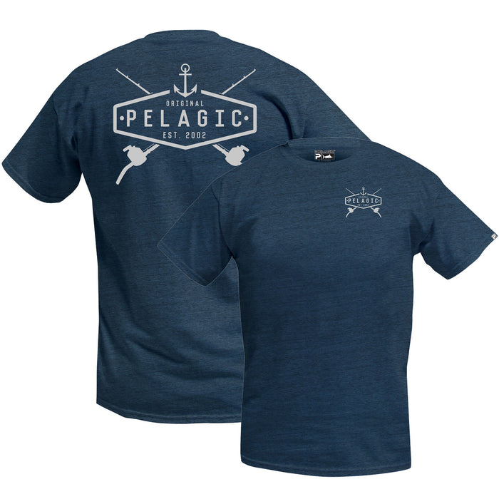 Pelagic - Hotrod Tee - Heather Navy - OffshoreApparel.com