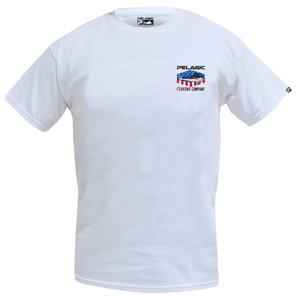 Pelagic - Patriot Dorado Tee - White - OffshoreApparel.com