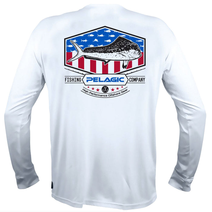 Pelagic - AquaTek Patriot Series Dorado - White - OffshoreApparel.com