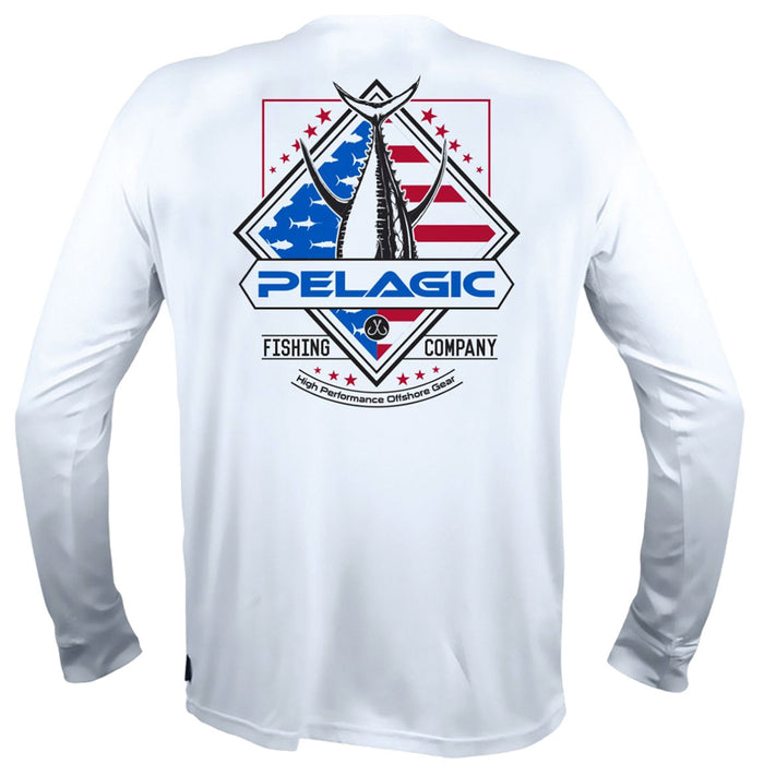 Pelagic - AquaTek Patriot Series Tuna - White - OffshoreApparel.com