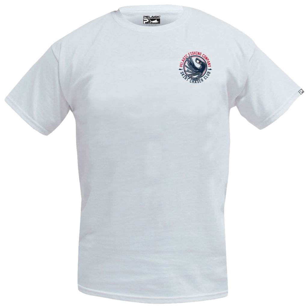 Pelagic - Skirt Chaser Tee - White - OffshoreApparel.com