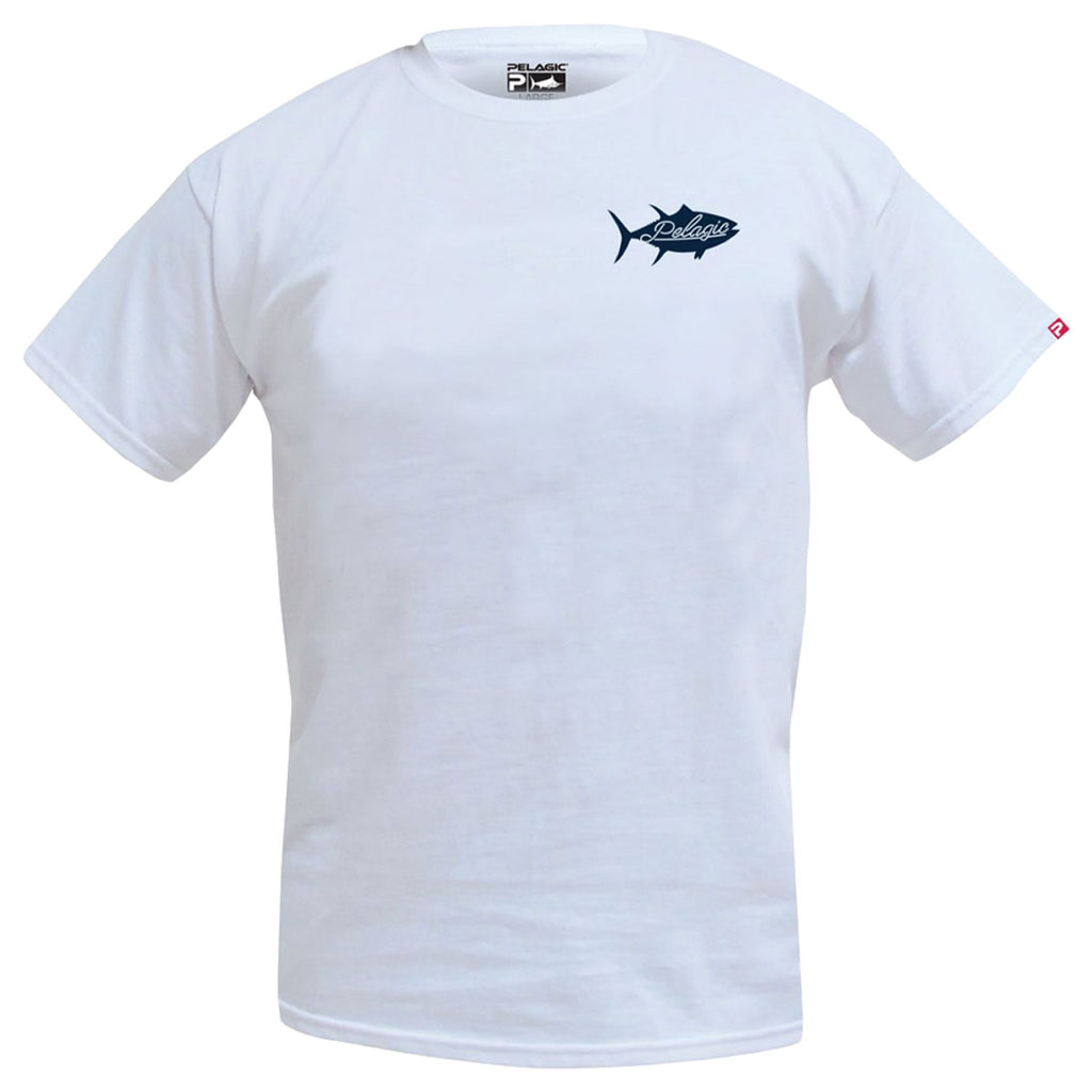 Pelagic - Tails Up Tee - White - OffshoreApparel.com