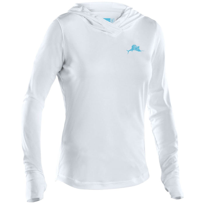 Pelagic - Ultratek Hooded Sunshirt - White - OffshoreApparel.com