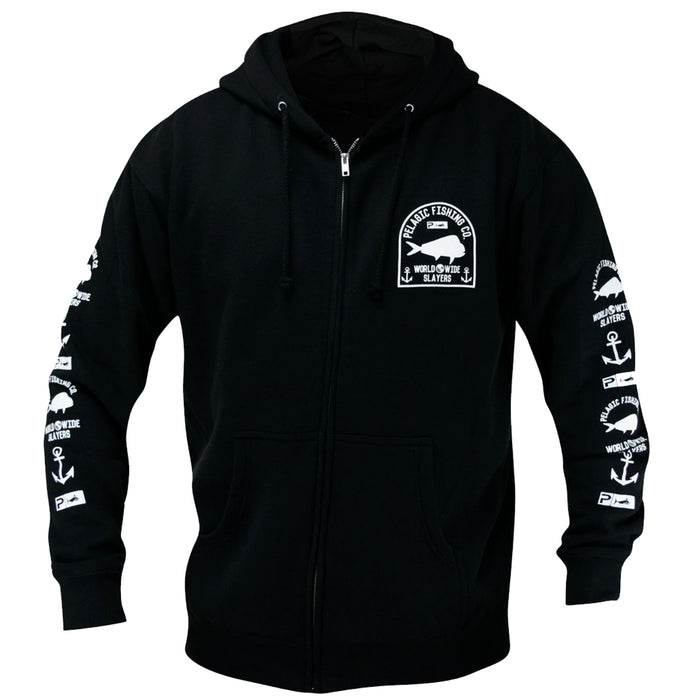Pelagic - Worldwide Slayer Zip Hoody - Black - OffshoreApparel.com