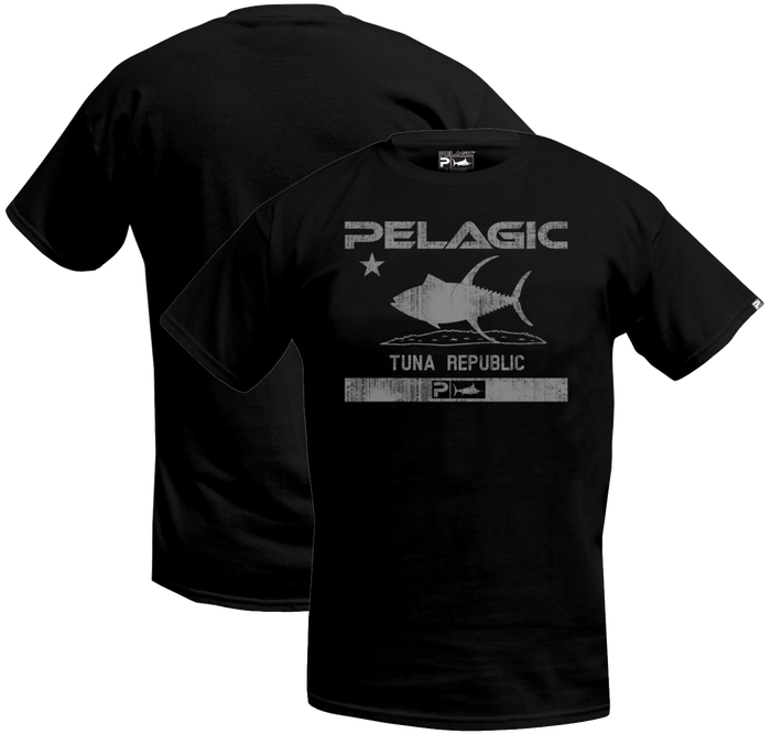 10f910ce68202 Pelagic - Tuna Republic Tee - Black Charcoal - OffshoreApparel.com
