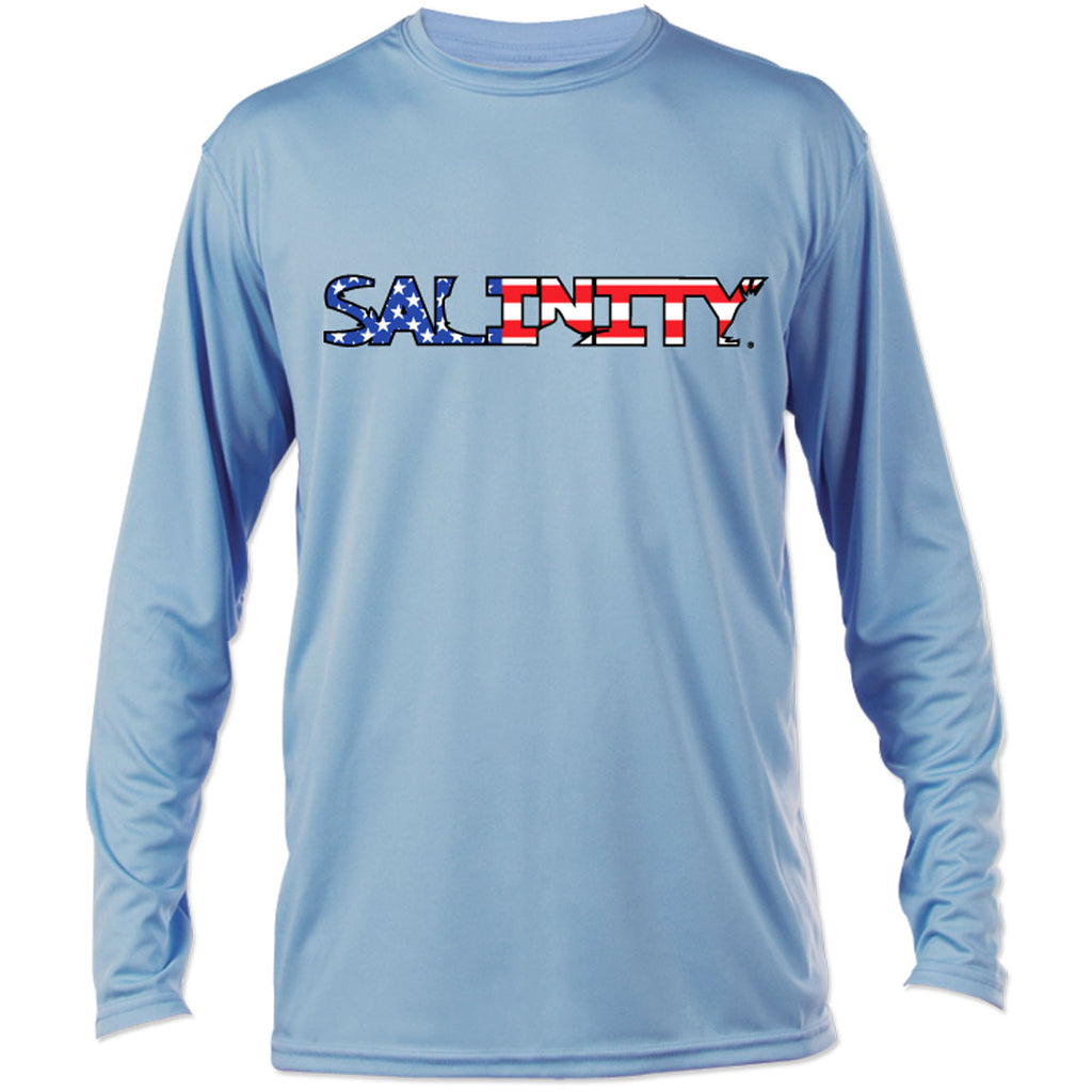 Salinity - USA Performance LS - Blue - OffshoreApparel.com