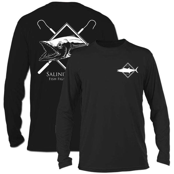 Salinity - Kingfish Performance LS - Black - OffshoreApparel.com