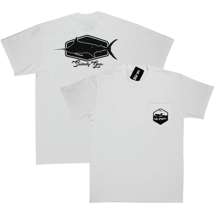 Salinity - Marlin Pocket Tee - White