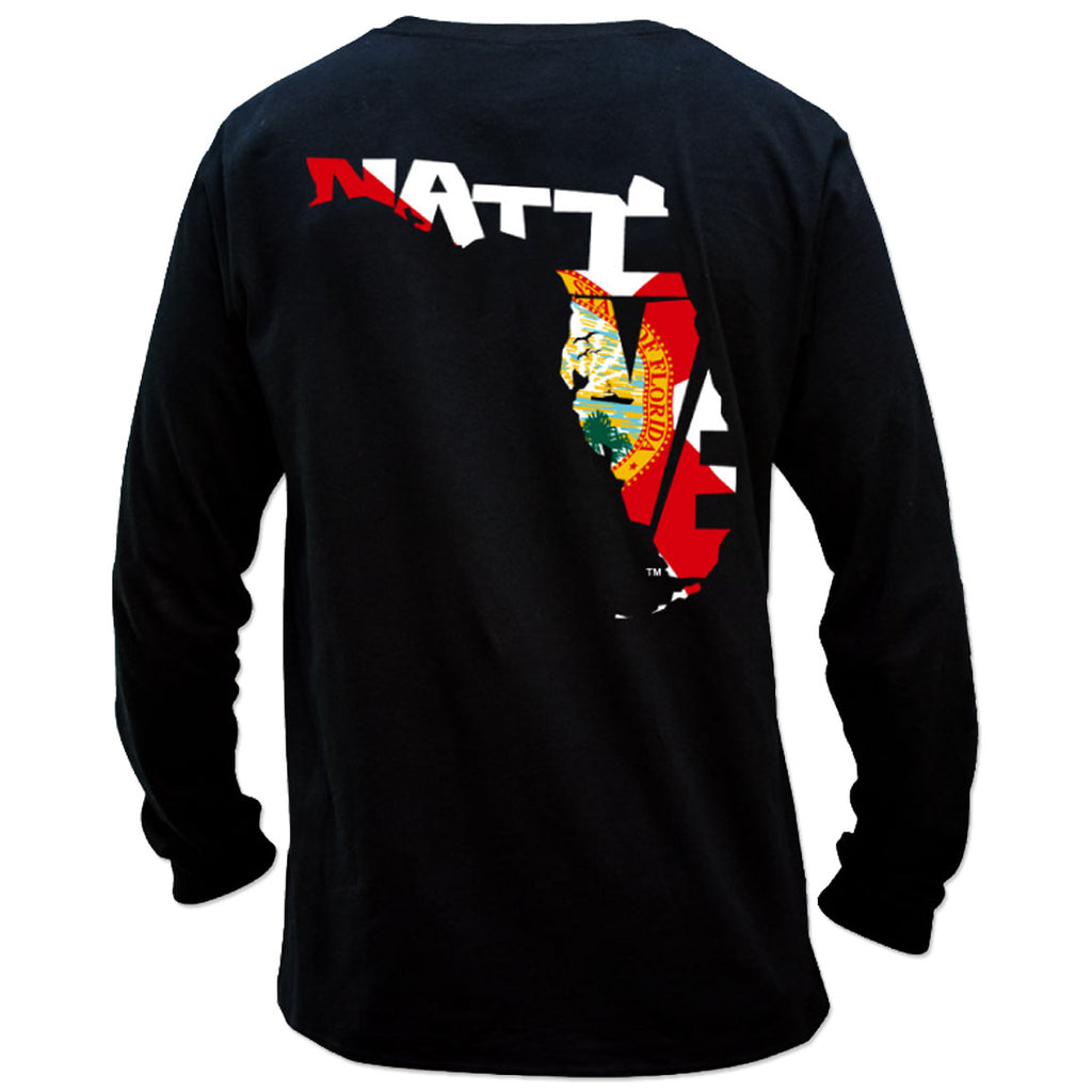 Salinity - Native Flag Performance LS - Black - OffshoreApparel.com