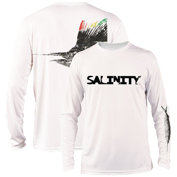 Salinity - Rasta Sailfish Performance LS - White - OffshoreApparel.com