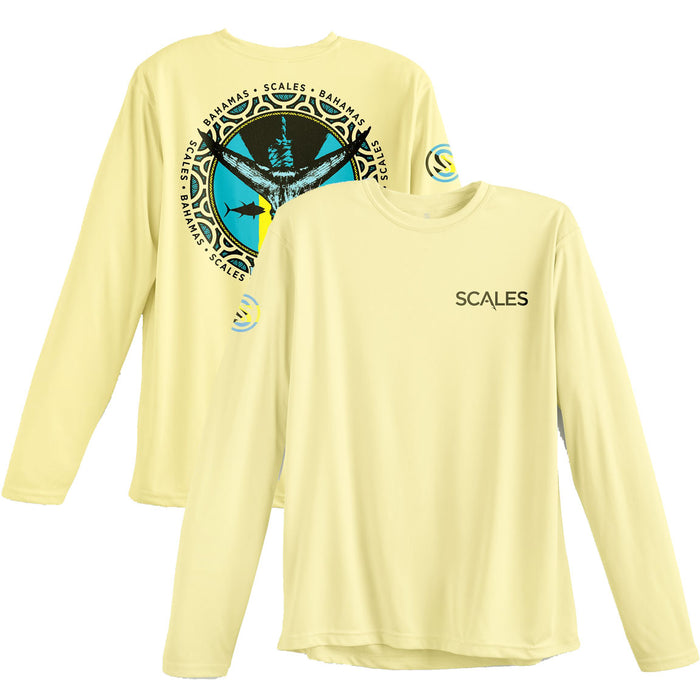 Scales - Bahamas Tuna Tail Performance - Yellow - OffshoreApparel.com
