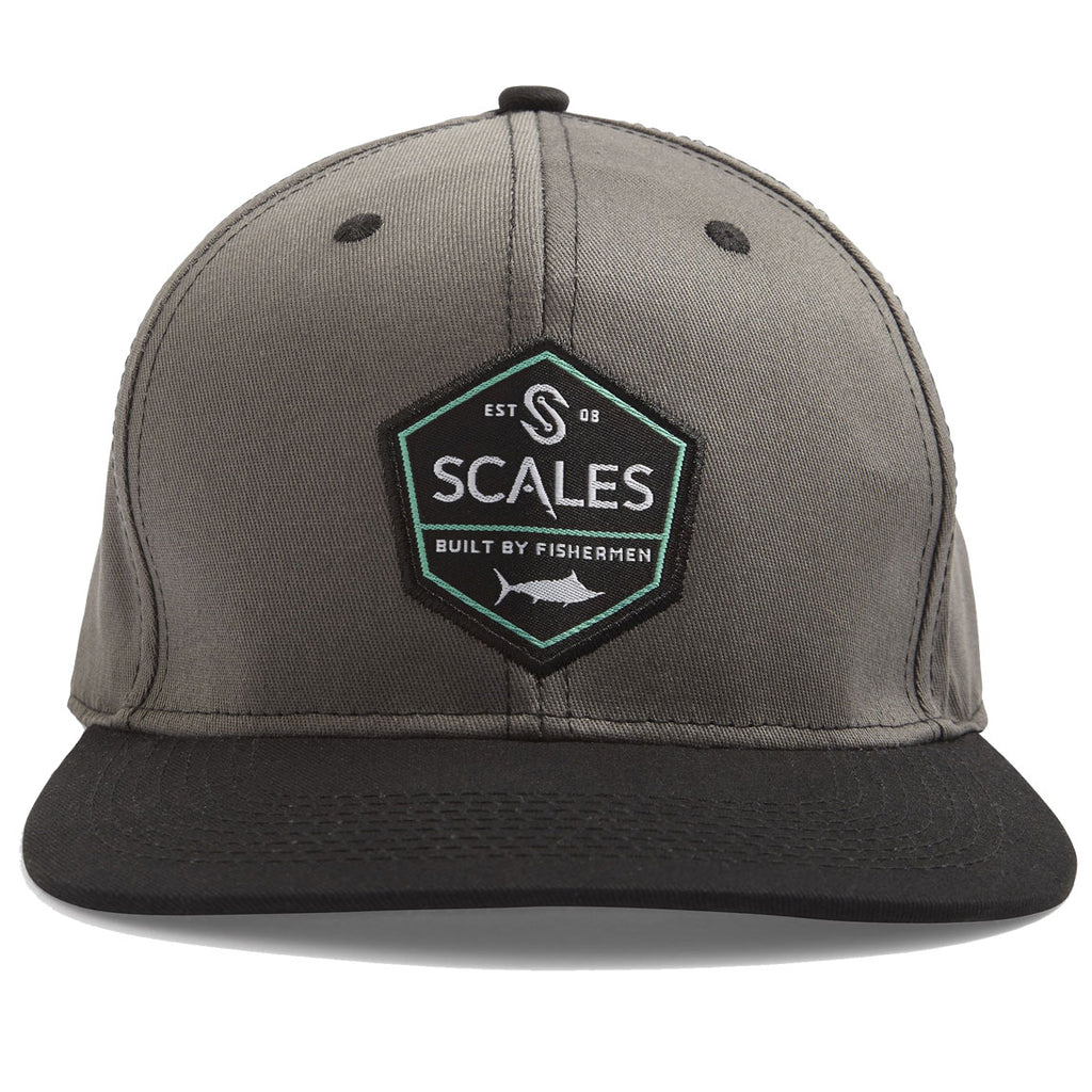 Scales - Built By Fisherman Hat - Grey/Black - OffshoreApparel.com