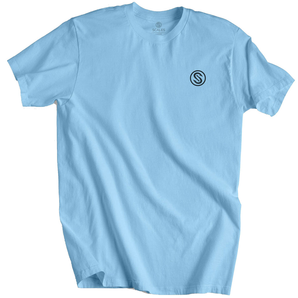 Scales - Worldwide Sportfish Tee - Powder Blue - OffshoreApparel.com