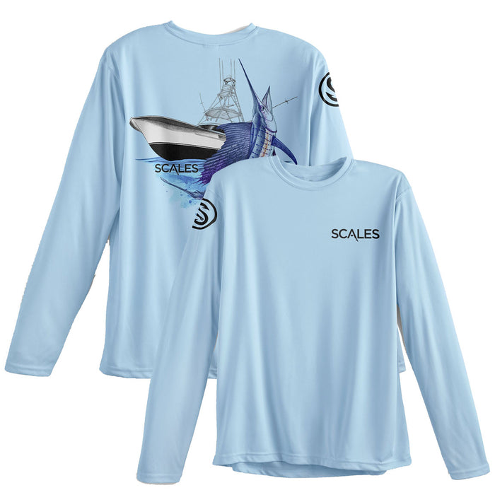 Scales - Sporty Sailfish Performance - Light Blue - OffshoreApparel.com