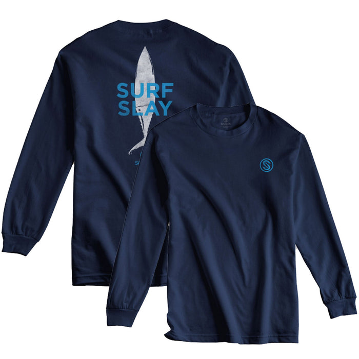 Scales - Surf Slay LS - Navy - OffshoreApparel.com