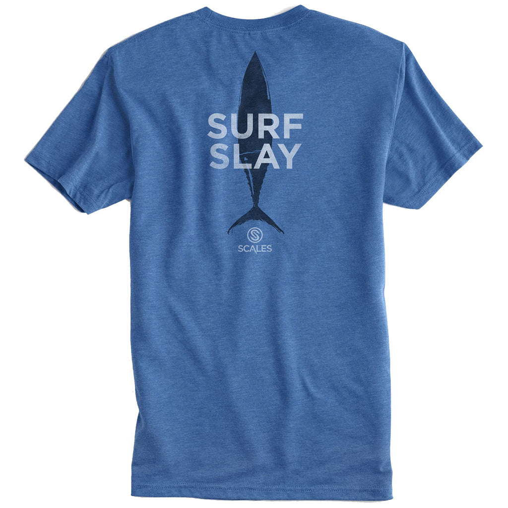 Scales - Surf and Slay Vintage Tee - Royal - OffshoreApparel.com