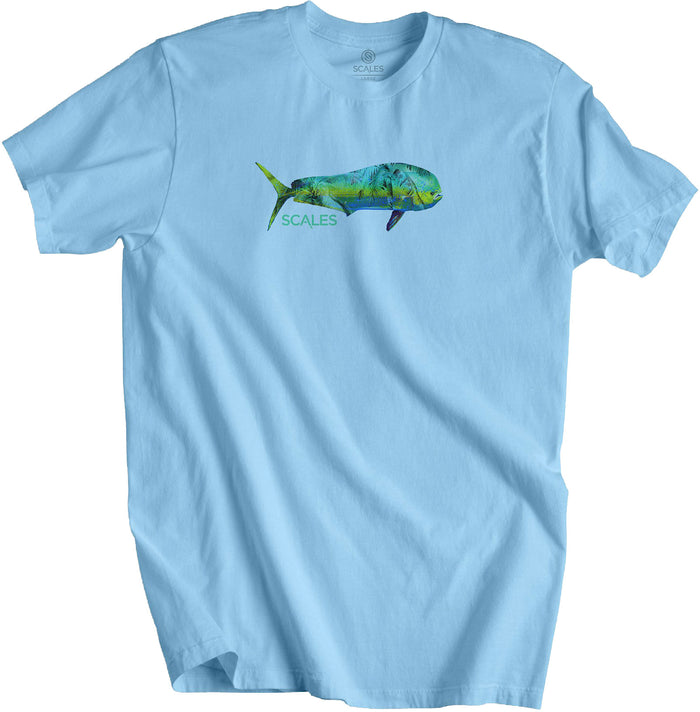 Scales - Tropical Mahi Tee - Powder Blue - OffshoreApparel.com
