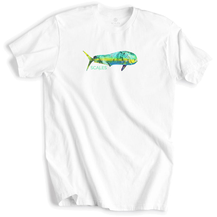 Scales - Tropical Mahi Tee - White - OffshoreApparel.com