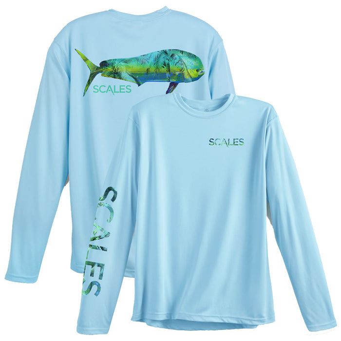 Scales - Tropical Mahi Performance - Light Blue - OffshoreApparel.com