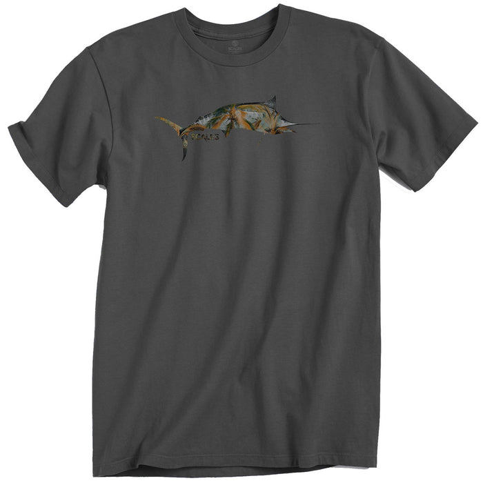 Scales - Tropical Marlin Tee - Charcoal - OffshoreApparel.com